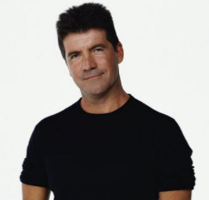 simon cowell in a retro photograph for magazine shoot