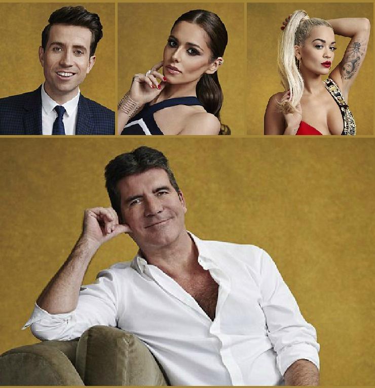 X Factor Judges 2015 - Simon Cowell, Rita Ora, Cheryl, Nick Grimshaw