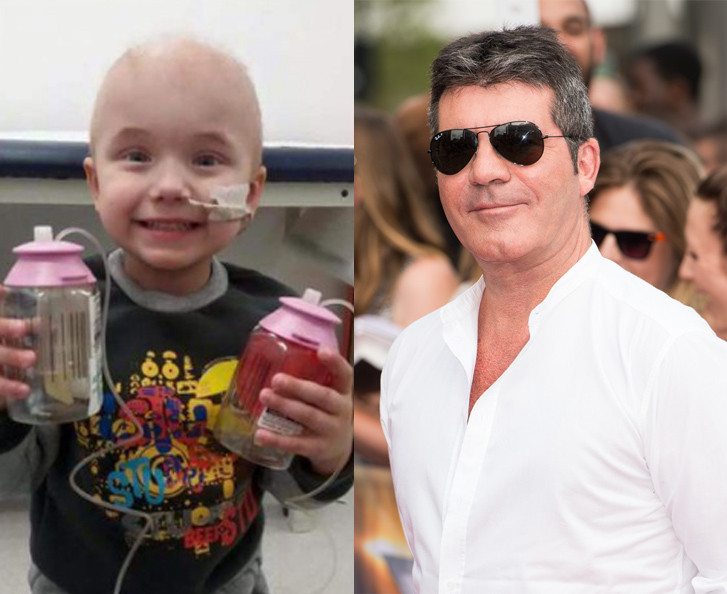 Simon Cowell and Kian Musgrave