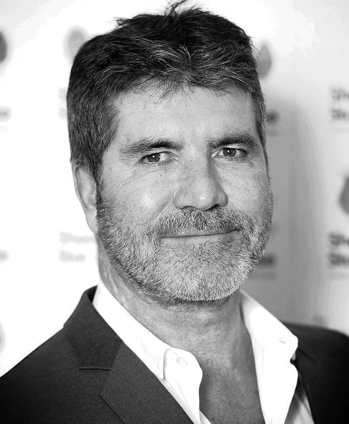 Simon Cowell - Black and white photo