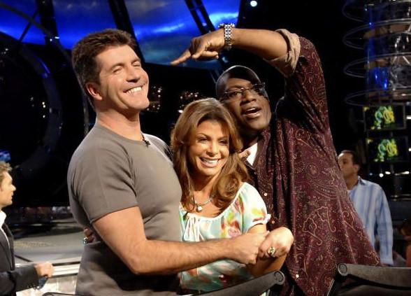 Simon Cowell, Paula Abdul and Randy Jackson on American Idol