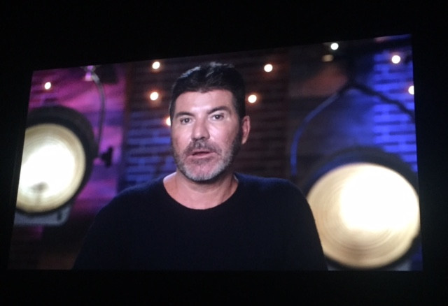 Simon Cowell VT at the X Factor launch party