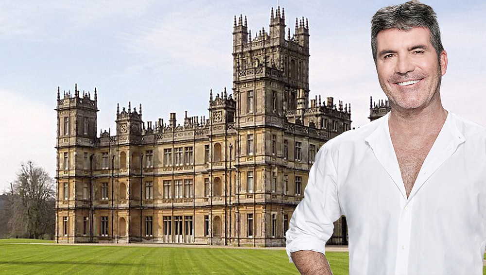 Simon Cowell with Highclere Castle for X Factor Judges House