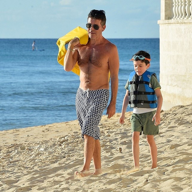 Simon Cowell with Eric in Barbados