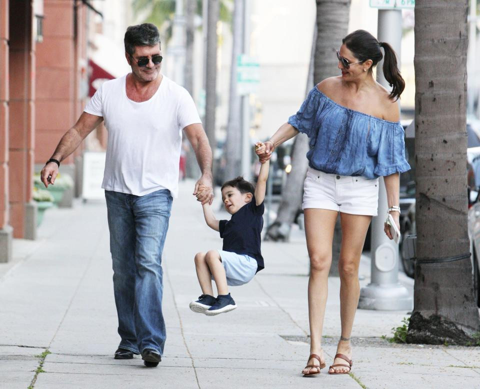Simon Cowell with Lauren Silverman and son Eric