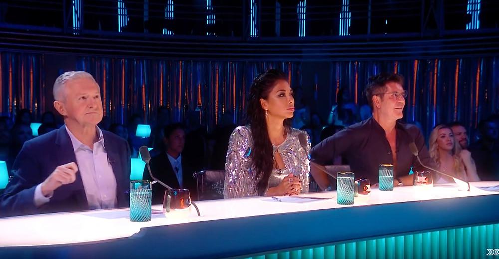 Simon Cowell, Nicole Scherzinger and Louis Walsh