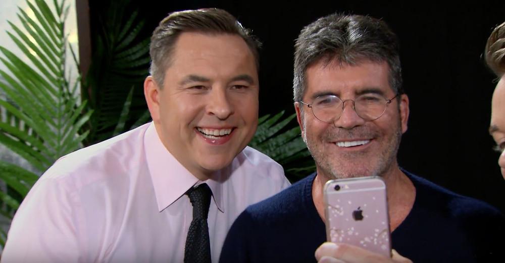 Simon Cowell and David Walliams selfie