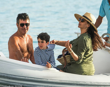 Simon Cowell, Lauren Silverman and Eric in Barbados