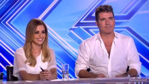 Simon Cowell with Cheryl