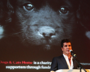 simon cowell supporting Battersea Dogs Home at thier annual event