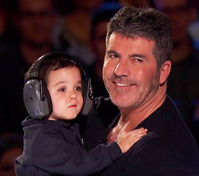 Simon Cowell with his son Eric