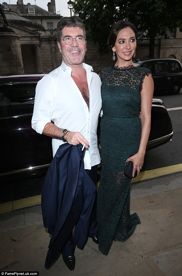 Simon Cowell and Lauren Silverman at the Together For Short Lives Midsummer Ball