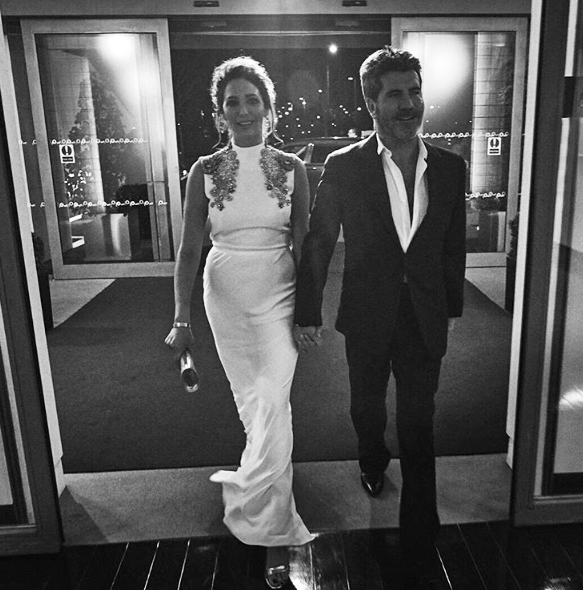 Simon Cowell & Lauren Silverman - Instagram