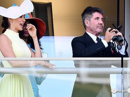 Simon Cowell and Lauren Silverman enjoy a day at Ascot races