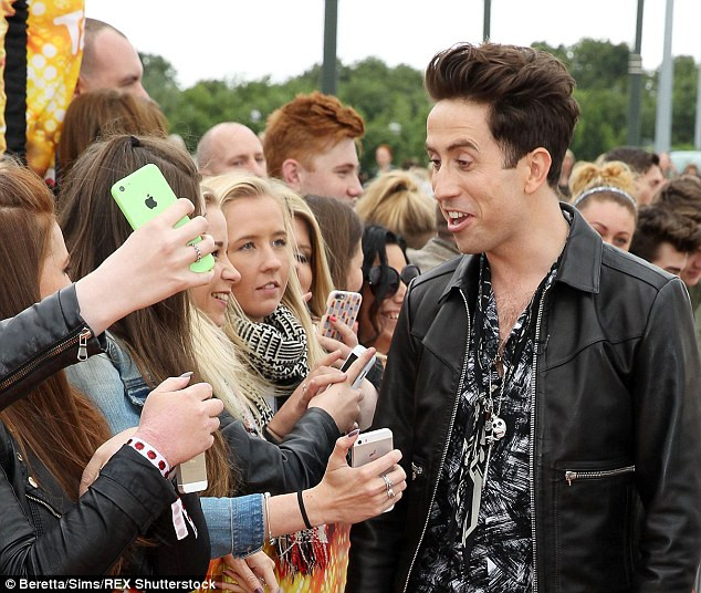 Nick Grimshaw with X Factor fans