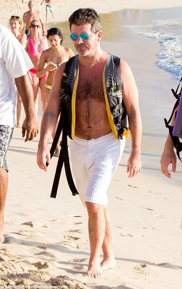 Simon Cowell in Barbados 2016