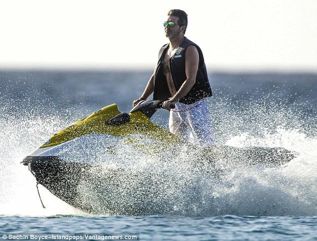 Simon Cowell - Jet Ski Barbados 2016