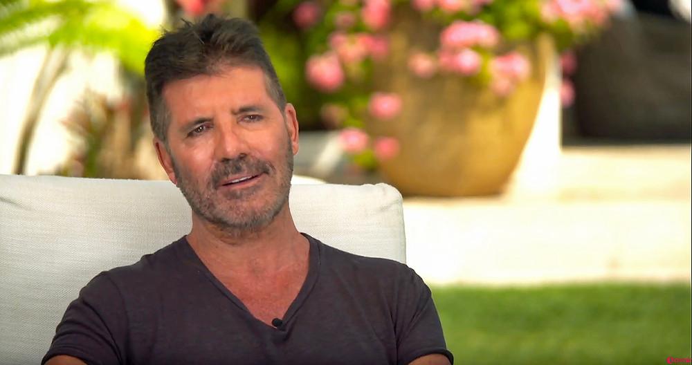 Simon Cowell on the Lorraine show chatting to Terri Seymour