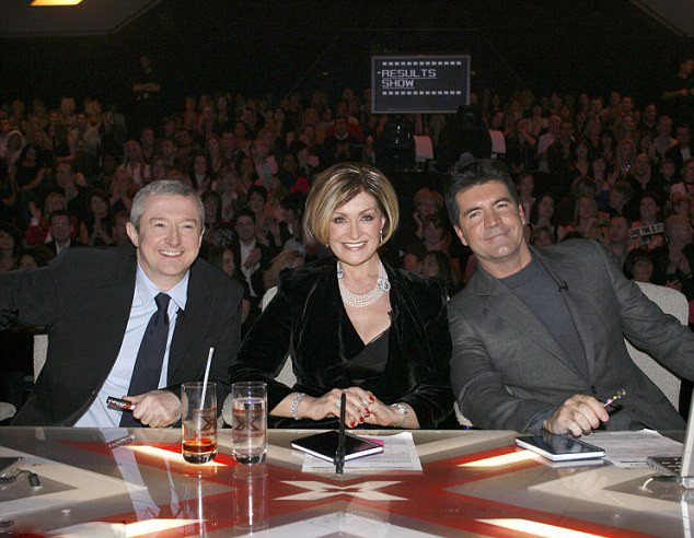 Simon Cowell, Louis Walsh & Sharon Osbourne on X Factor