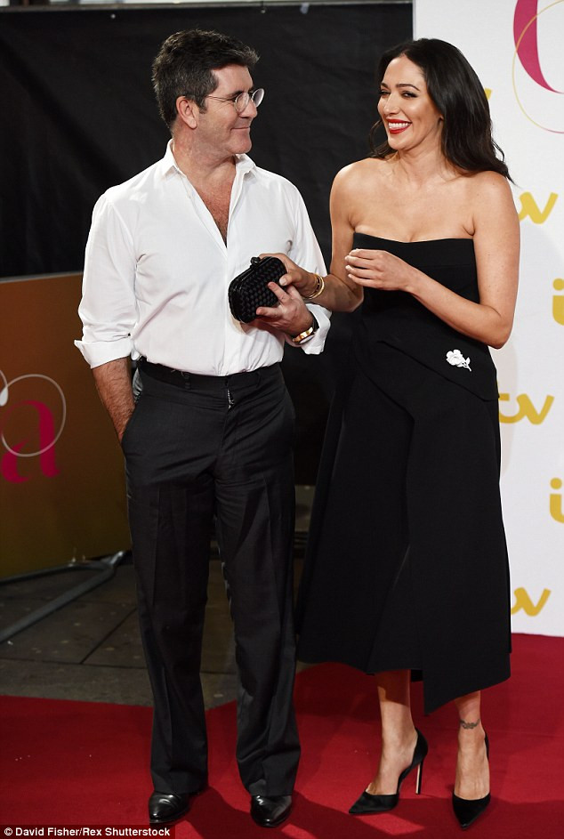 Simon Cowell and Lauren Silverman at the ITV Gala