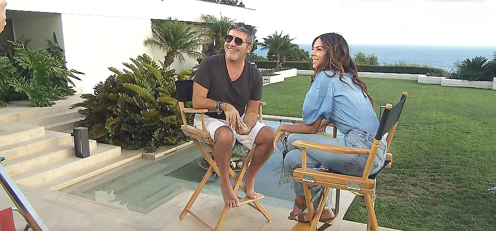 Simon Cowell chats to Terri Seymour for Extra TV