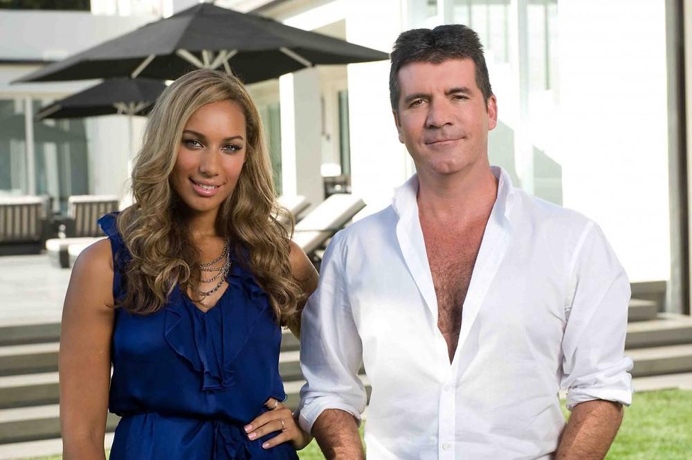 Simon Cowell with Leona Lewis
