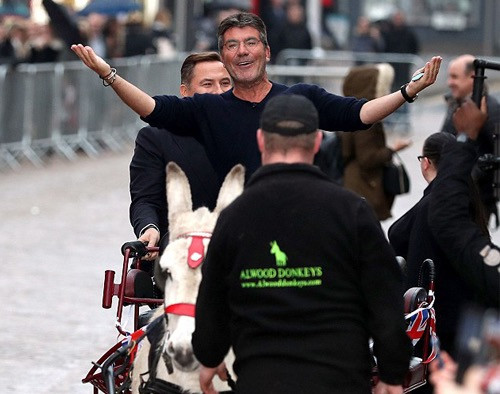 Simon Cowell on a donkey for Britain's Got Talent 2017