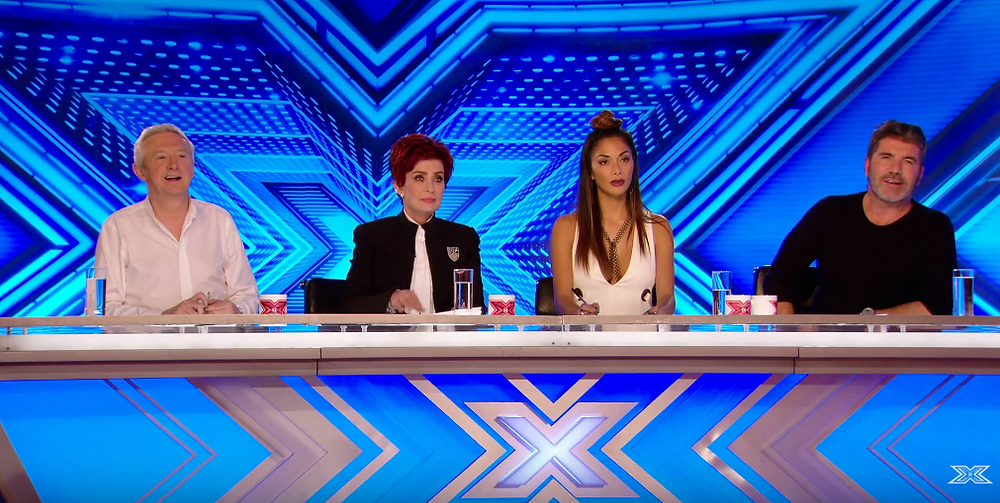 Louis Walsh, Sharon Osbourne, Nicole Scherzinger and  Simon Cowell at the X Factor auditions