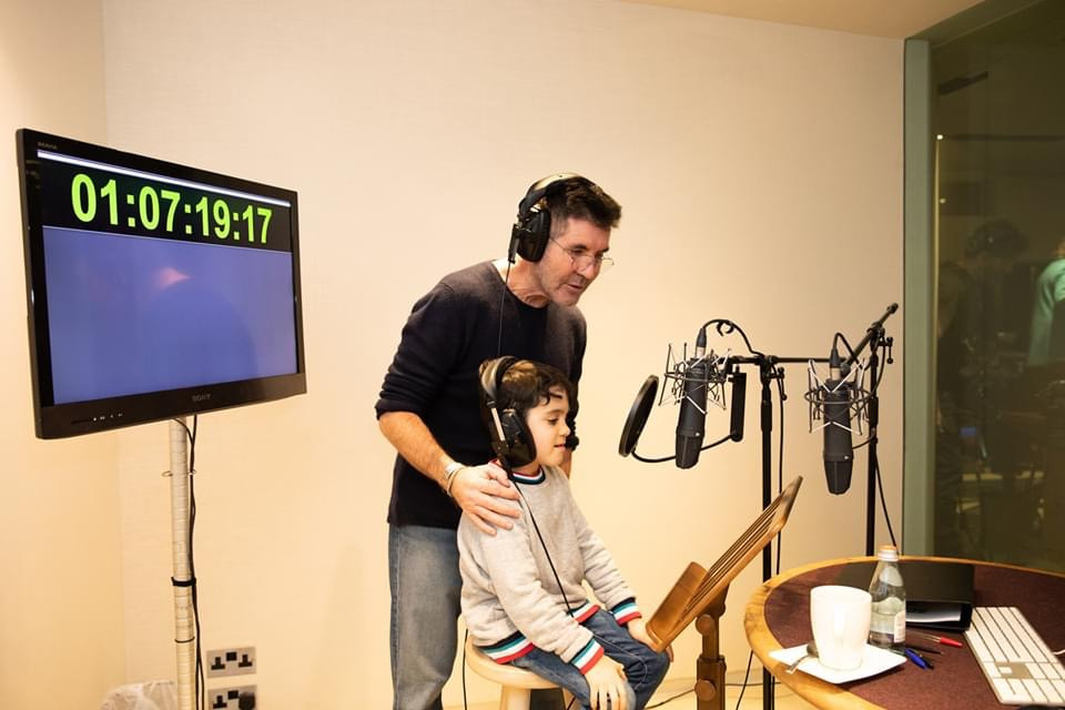 Simon Cowell and Eric on the set of the Scooby Doo Movie