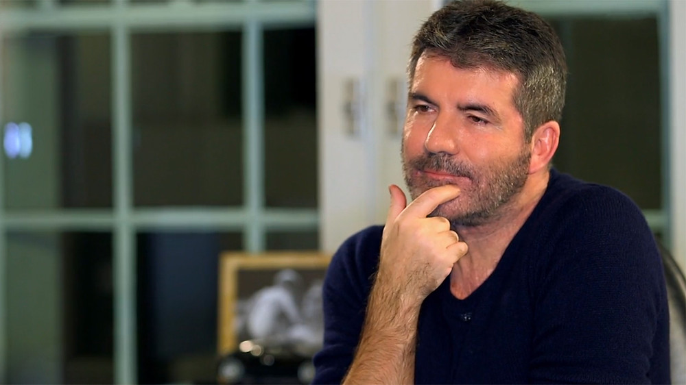 Simon Cowell in his Syco office