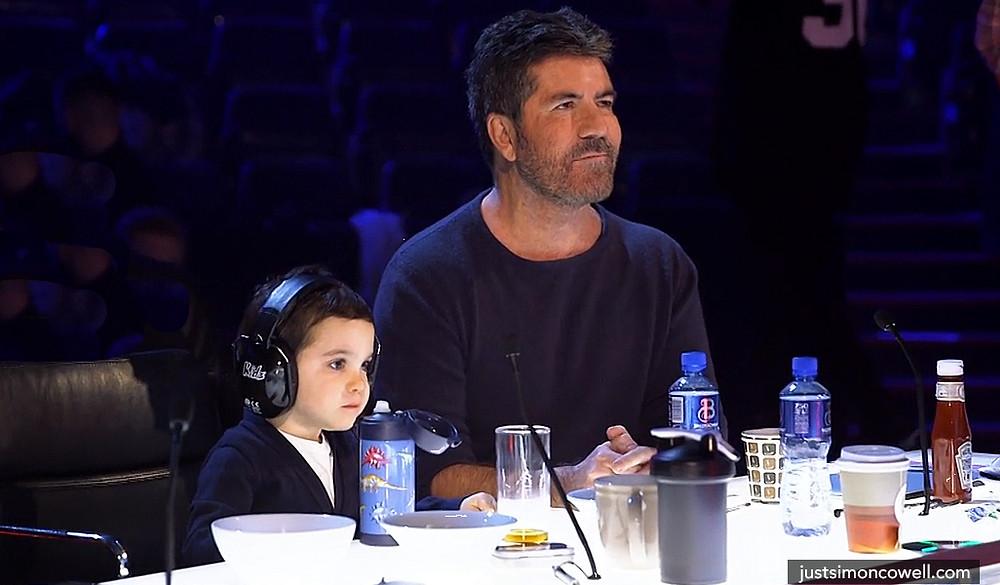 Simon Cowell with his son Eric