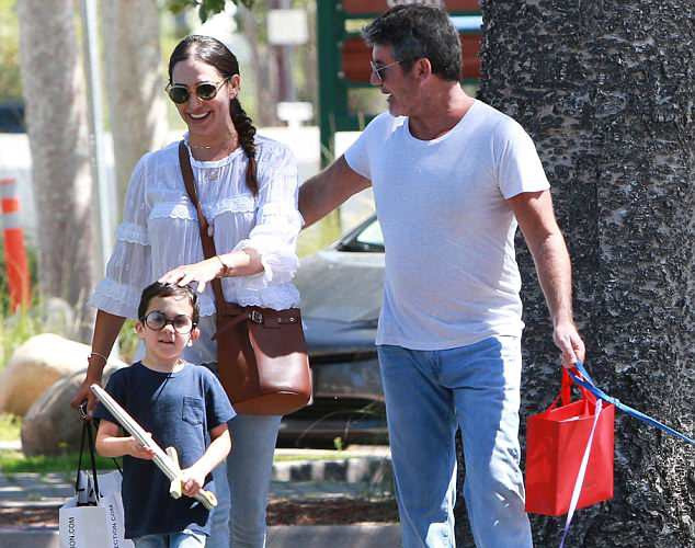 Simon Cowell, Lauren and Eric shopping in Malibu