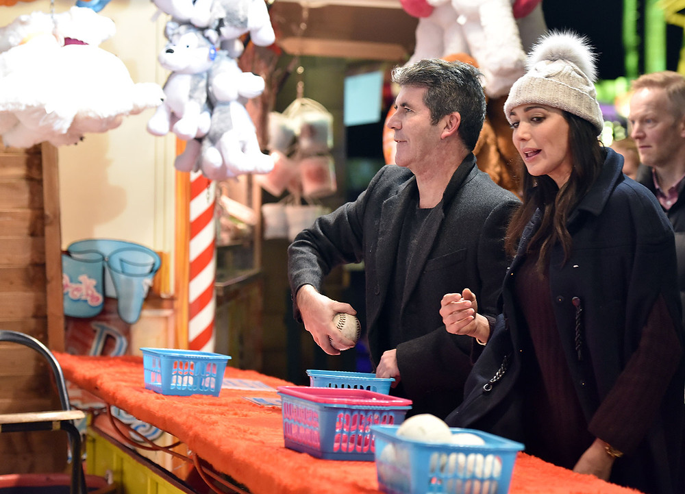 Simon Cowell and partner Lauren Silverman at Winter Wonderland