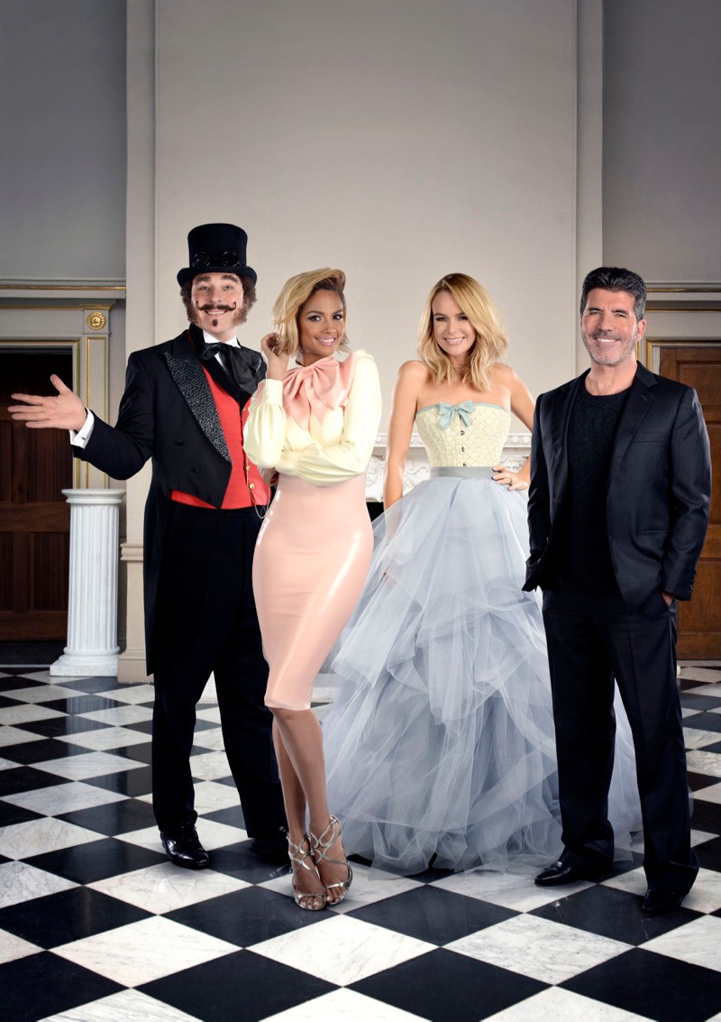 Simon Cowell, Amanda Holden, Alesha Dixon and David Walliams in Britain's Got Talent