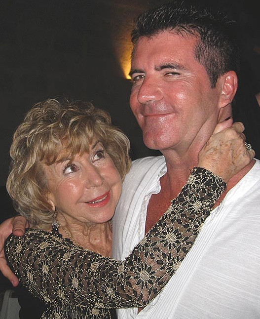 Simon Cowell with mum Julie Cowell