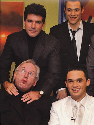 Simon Cowell in Pop Idol with Will Young and Gareth Gates