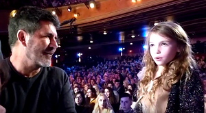 Simon Cowell with Alicia Day at Britain's Got Talent