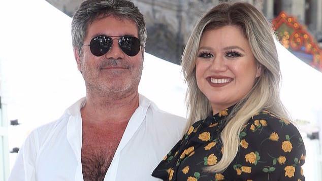Simon Cowell with Kelly Clarkson