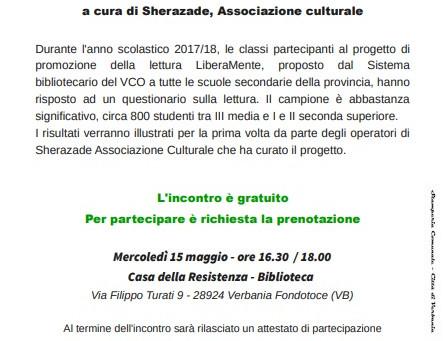 IO LEGGO PERCHÉ - La lettura secondo gli studenti del progetto LiberaMente