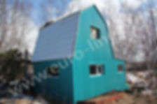 отделка дачи, отделка фасада металлическим профлистом, отделка фада дач на Камчатке, дачи на Камчатке