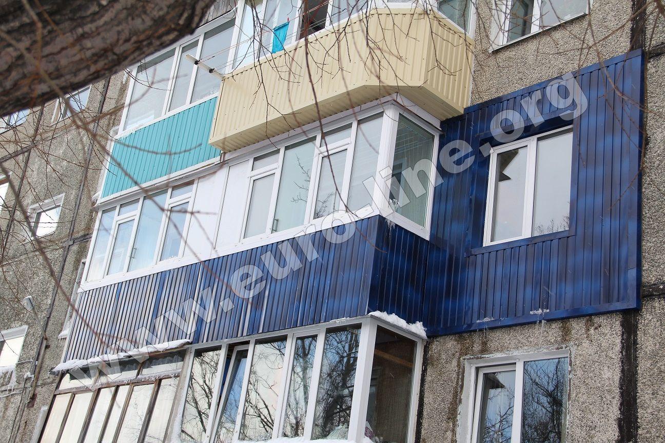 2 балкона + фасад комнаты