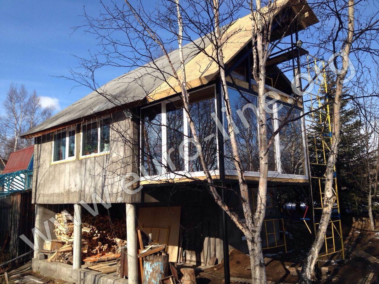 Балкон пристройка к даче