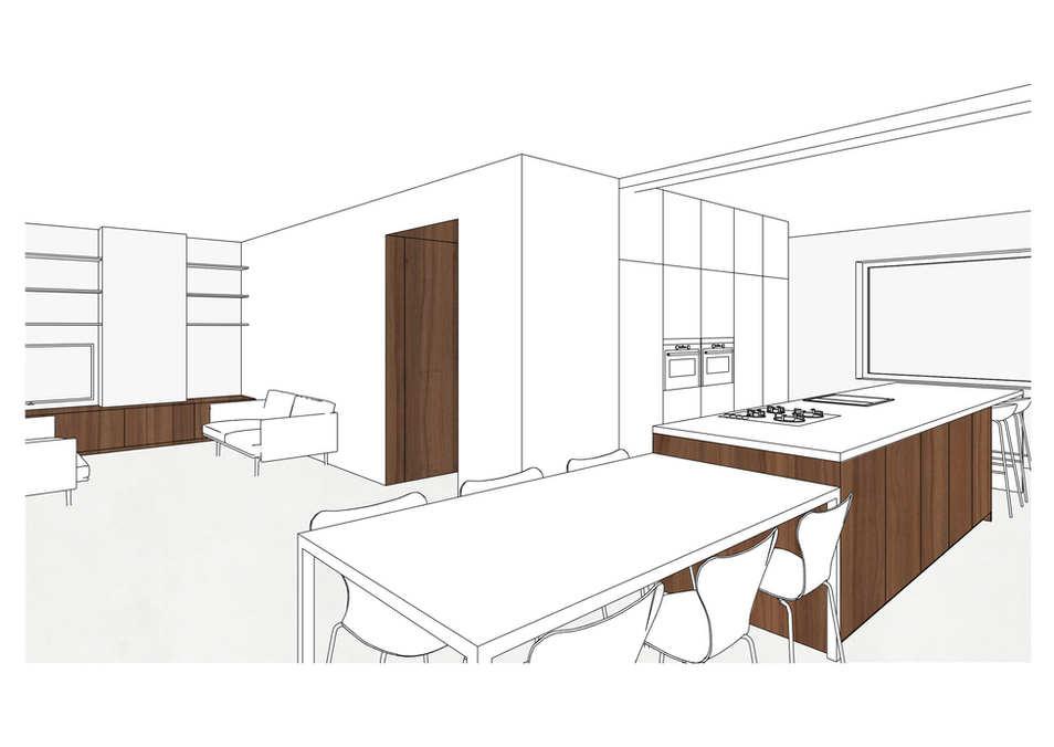 IN UITVOERING: keuken, leefruimte en bureau