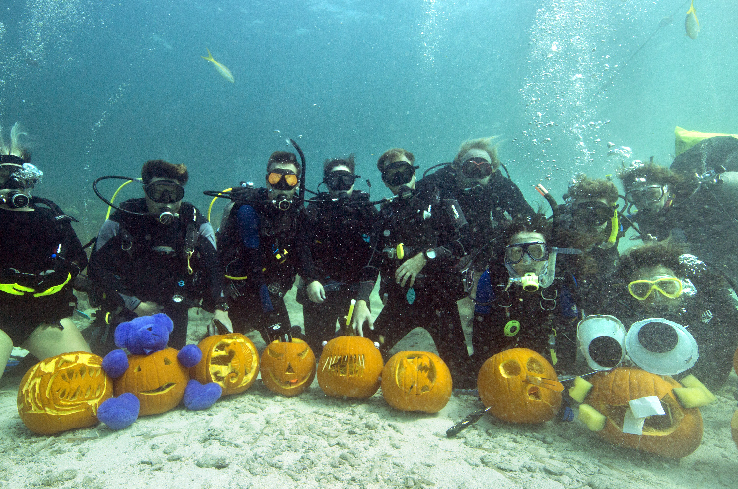 Keys Pumpking under water carving event