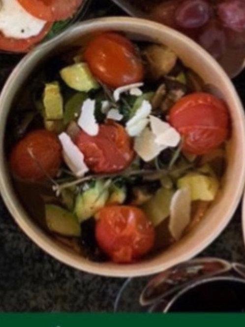 Gegrilde groenten met parmazaan