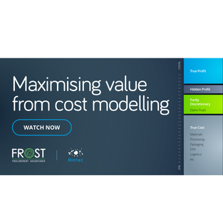 Maximising value from cost modelling