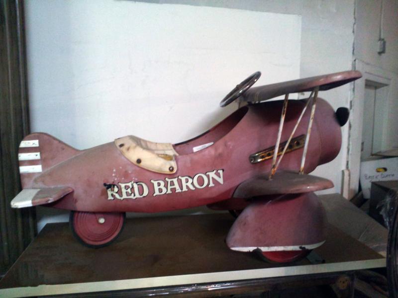 38. Vintage  Red Baron Plane