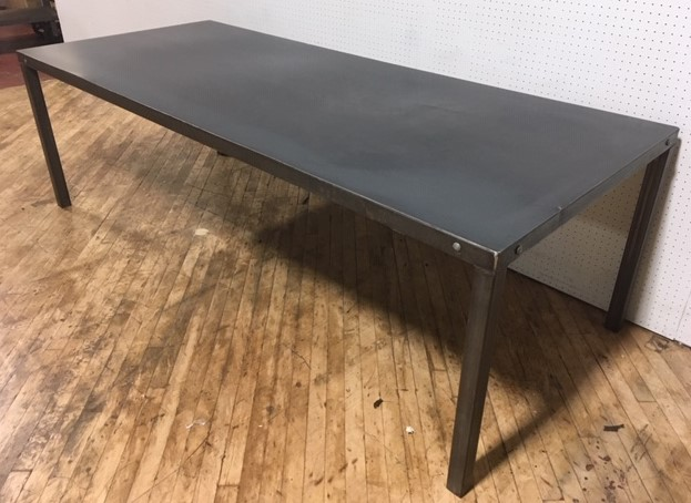 #263A. Metal Industrial Table