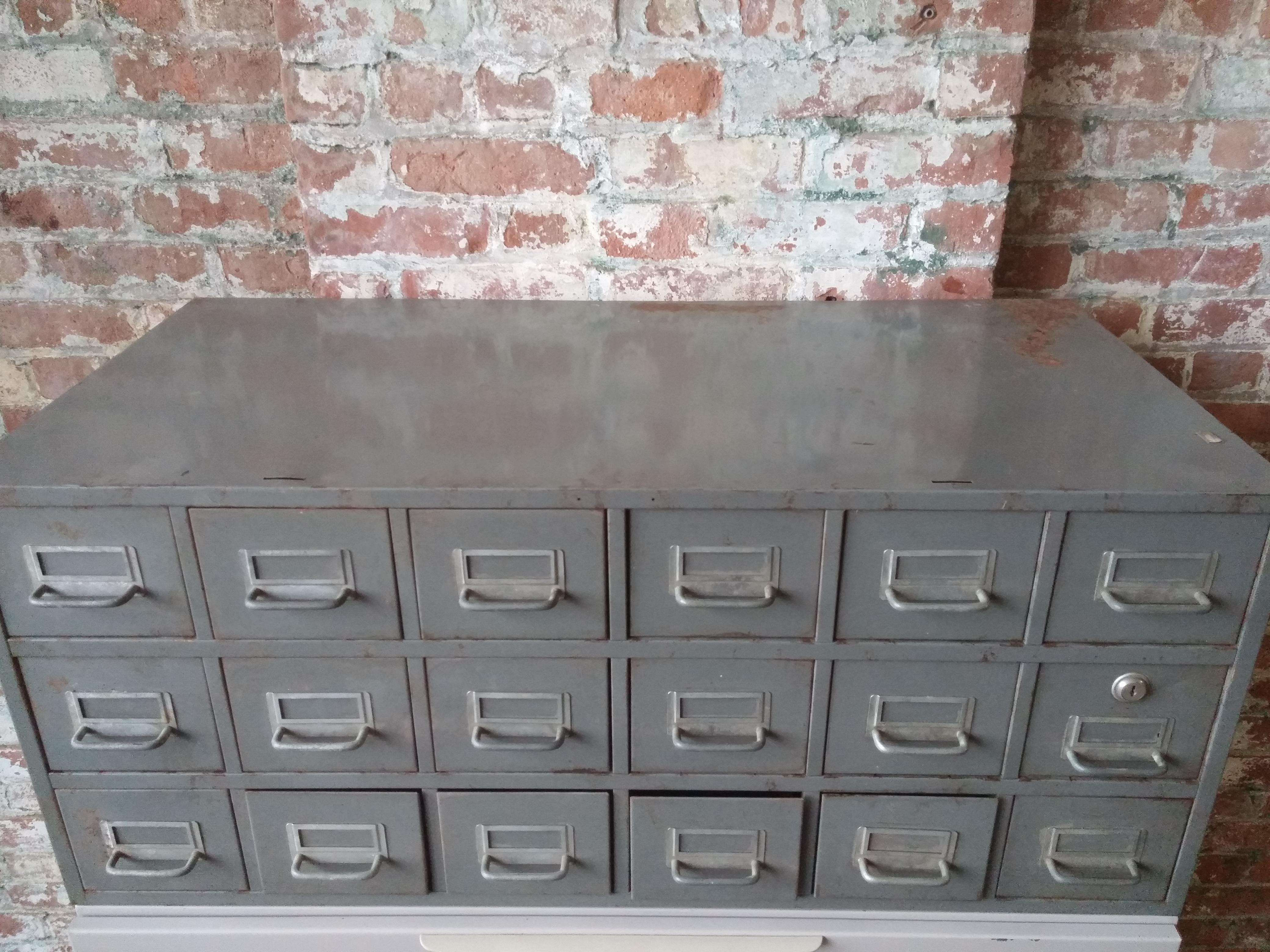 66.  Grey Card File 36Wx18Dx15-1/2H