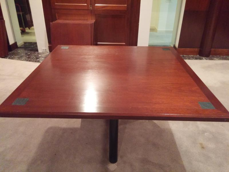 67. Square conference table